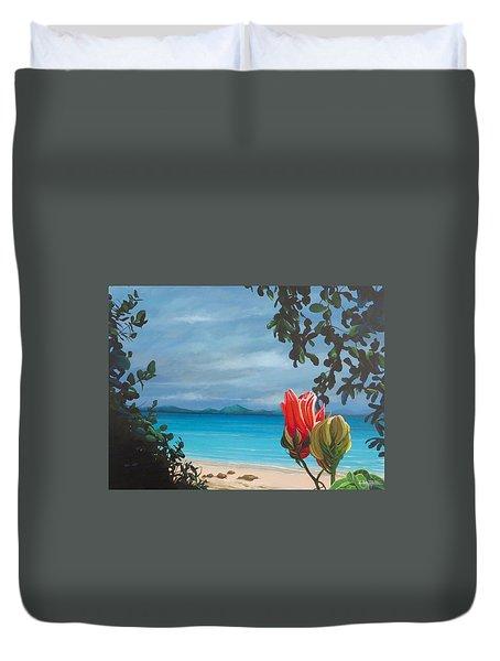 Honeymoon Beach Duvet Cover