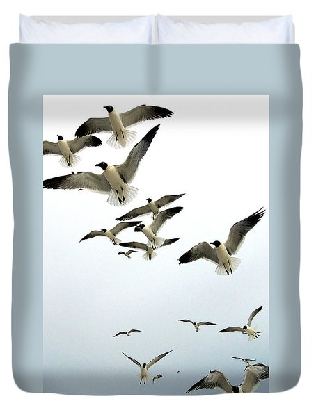 Honeymoon Island Sea Gulls Duvet Cover