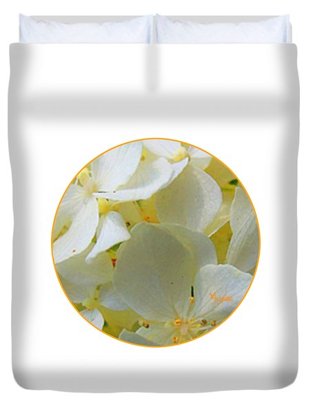 Honeysuckle Blossoms Duvet Cover