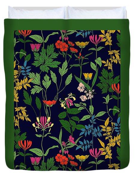 Honeysuckle Floral Duvet Cover