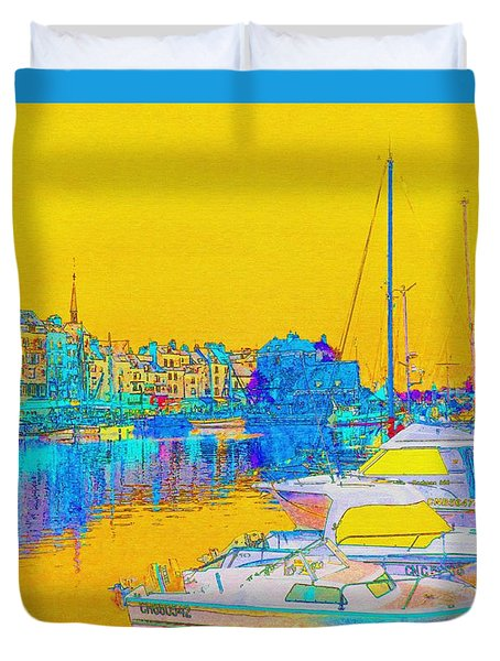 Honfleur Normandy France Duvet Cover