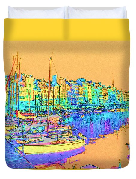 Honfleur On The Seine Duvet Cover
