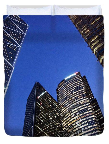Hong Kong Buildings Duvet Cover