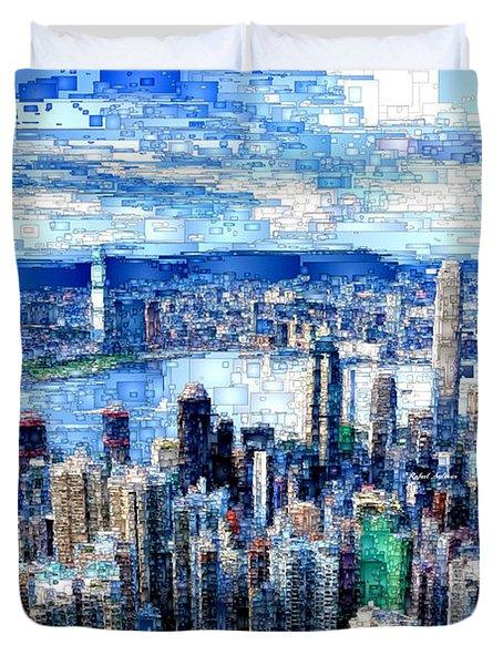 Hong Kong, China Duvet Cover