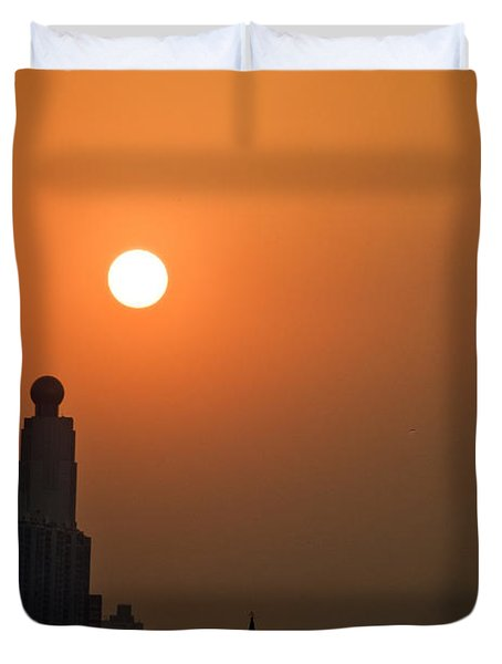Hong Kong Coast Duvet Cover by Ray Laskowitz - Printscapes