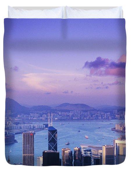 Hong Kong Harbor Duvet Cover by Gloria & Richard Maschmeyer - Printscapes
