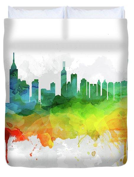 Hong Kong Skyline Mmr-chhk05 Duvet Cover