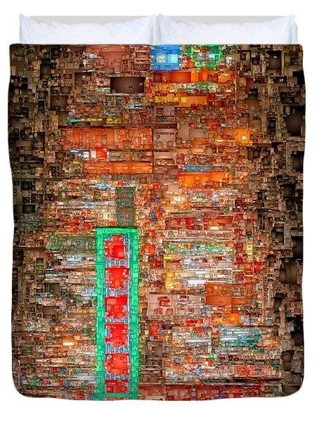 Hong Kong -yaumatei Duvet Cover