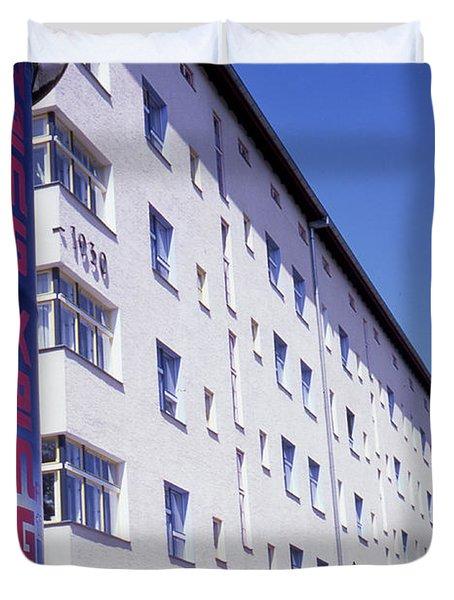 Honk Kong And Building In Berlin Duvet Cover