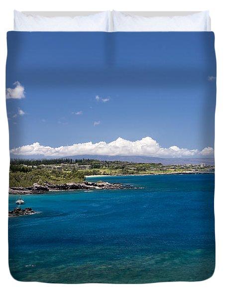 Honolua Bay Duvet Cover