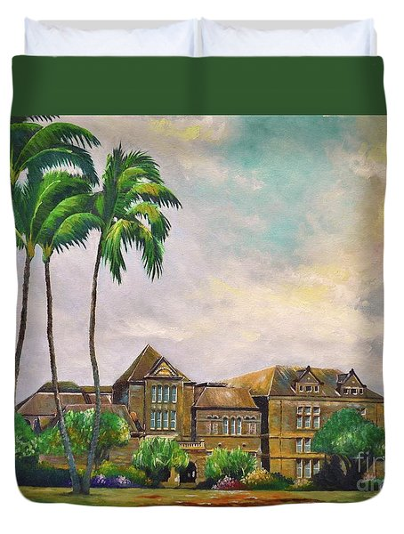 Honolulu Bishop Museum Duvet Cover
