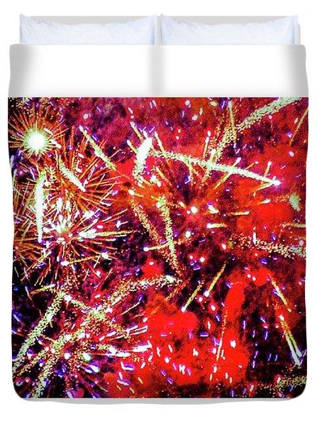 Honolulu Fireworks Duvet Cover