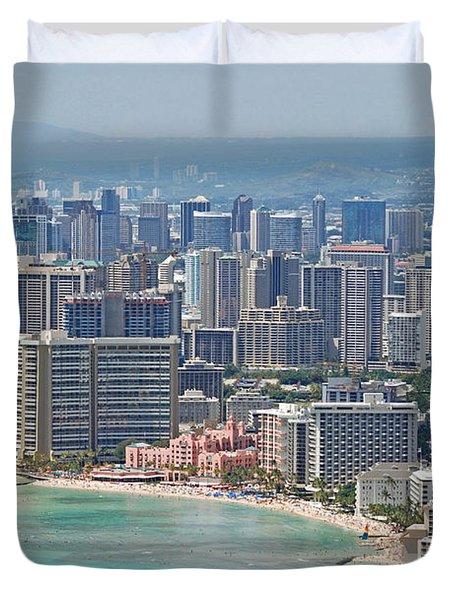Honolulu Hawaii  Duvet Cover