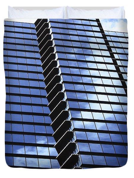 Honolulu Skyscraper Duvet Cover by Brandon Tabiolo - Printscapes