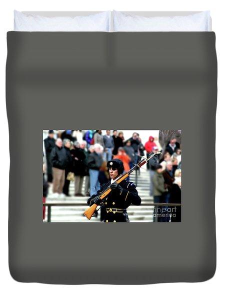 Honor Guard At Arlington Cemetery Duvet Cover by April Sims