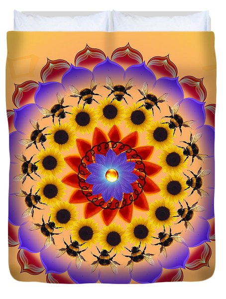 Honor The Bees Duvet Cover by Elizabeth Alexander