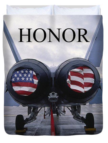 Honor The Flag Duvet Cover