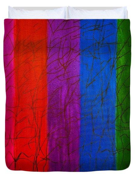 Honor The Rainbow Duvet Cover by Rachel Hannah
