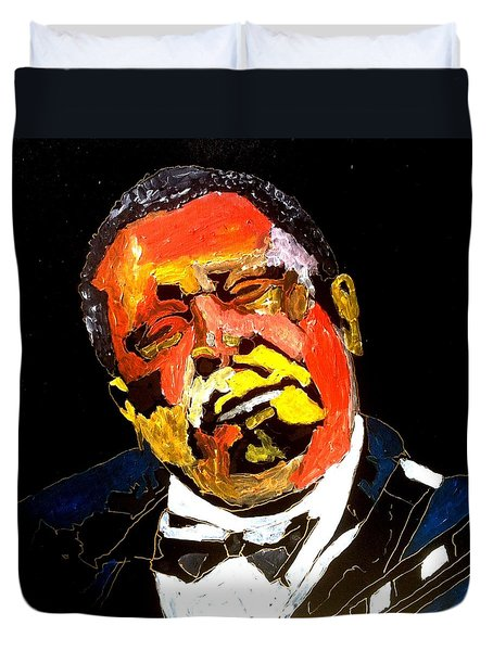Honoring Bb King Duvet Cover