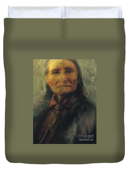 Honoring Geronimo Duvet Cover