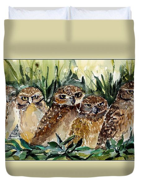 Hoo Is Looking At Me? Duvet Cover by Mindy Newman