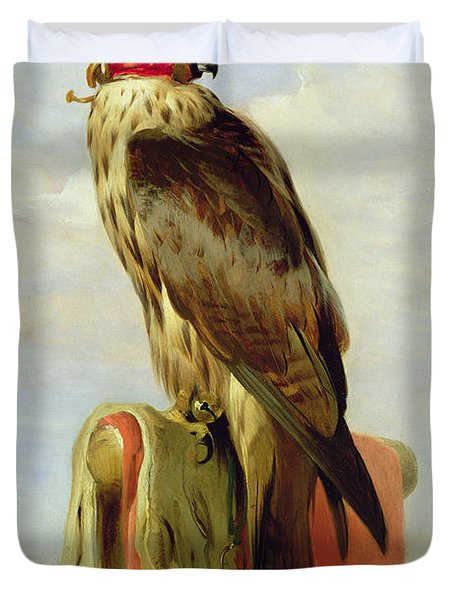 Hooded Falcon Duvet Cover by Sir Edwin Landseer