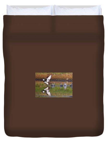 Hooded Merganser Duvet Cover