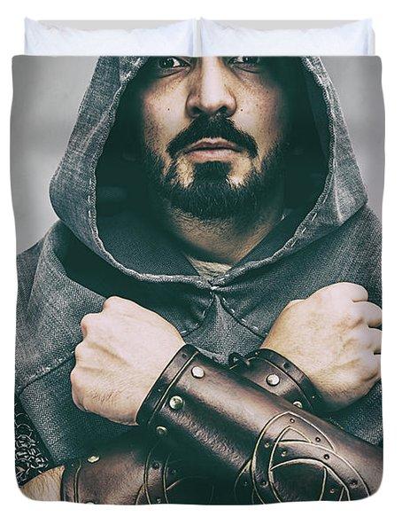 Hooded Viking Warrior Duvet Cover