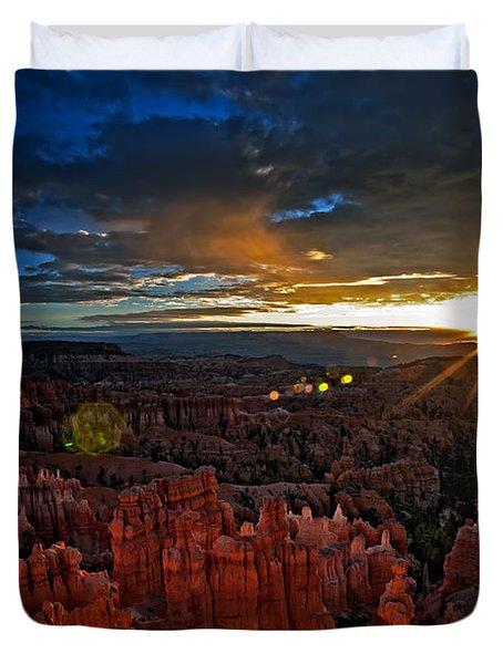 Hoodoos At Sunrise Bryce Canyon National Park Duvet Cover