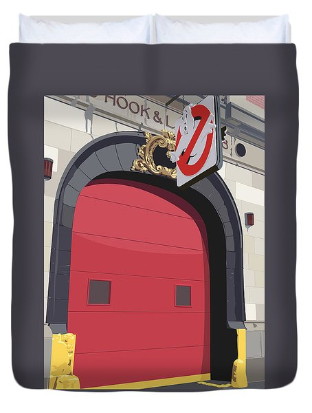 Hook And Ladder No. 8 Duvet Cover