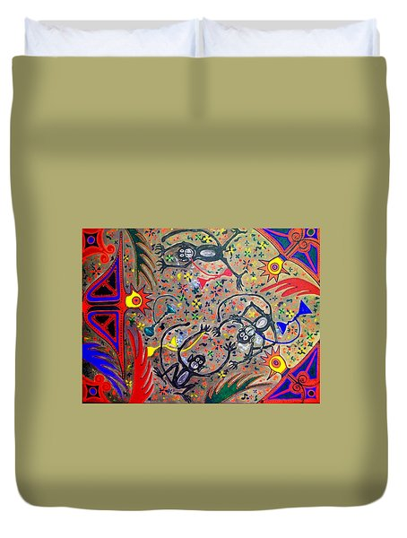 Hookah Monkeys - Jinga Monkeys Series Duvet Cover