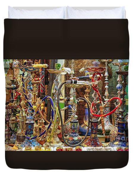 Hookahs Duvet Cover by Patricia Hofmeester