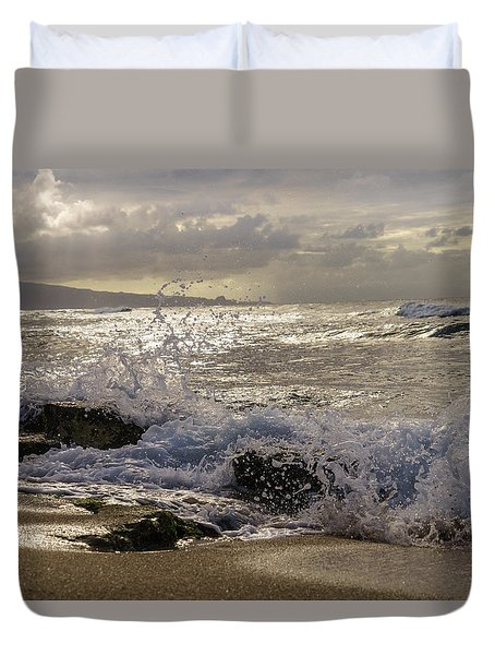 Ho'okipa Beach Maui Duvet Cover