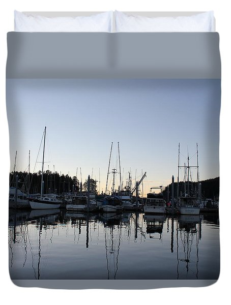 Hoonah  Bay Duvet Cover