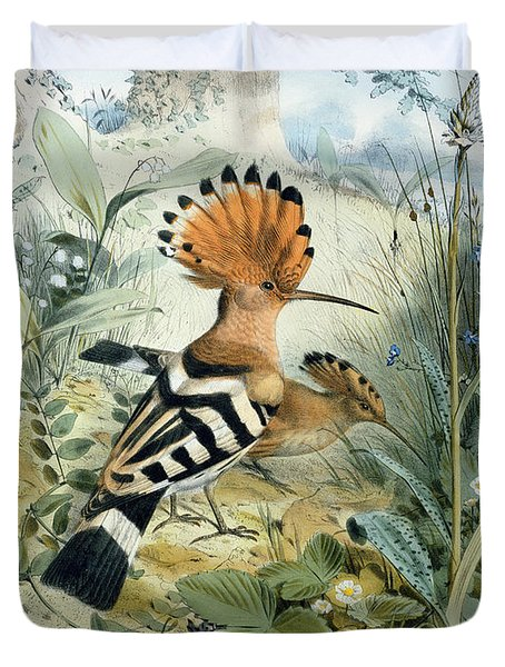 Hoopoe Duvet Cover by Edouard Travies