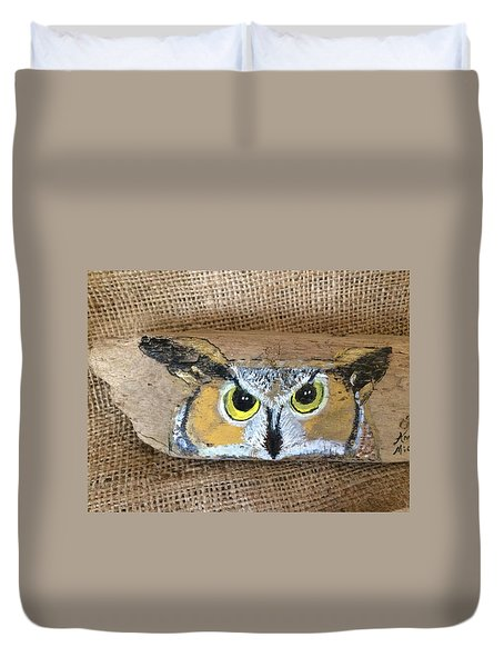Hoot Owl Duvet Cover by Ann Michelle Swadener