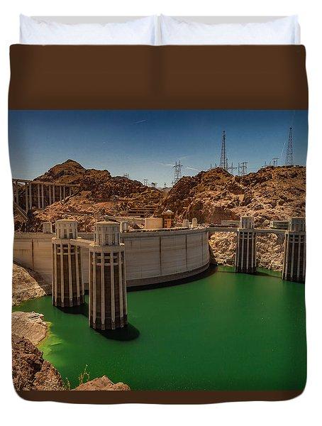 Hoover Dam Duvet Cover by Ed Clark