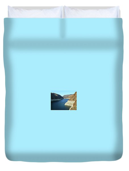 Duvet Cover featuring the photograph Hoover Dam In May by Emmy Marie Vickers