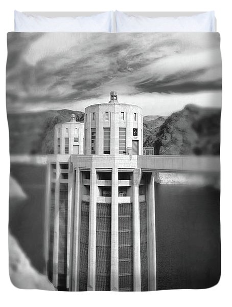 Hoover Dam Intake Towers No. 1-1 Duvet Cover