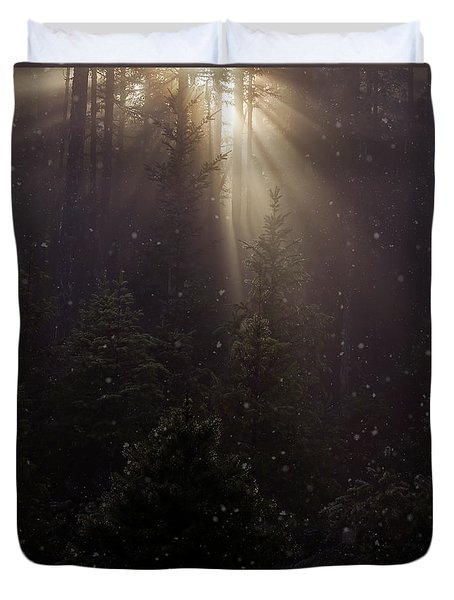 Hope And Faith - Winter Art Duvet Cover