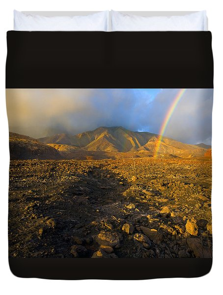 Hope From Desolation Duvet Cover by Mike  Dawson