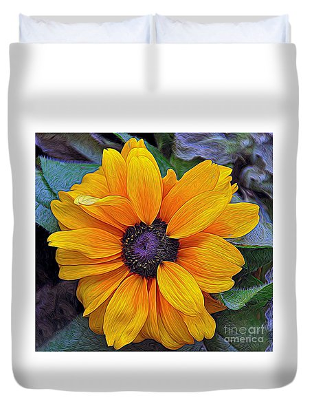Duvet Cover featuring the photograph Hope by Gina Savage
