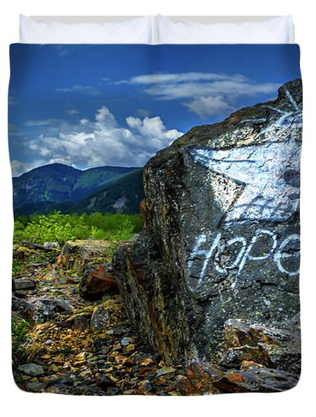 Duvet Cover featuring the photograph Hope II by John Poon