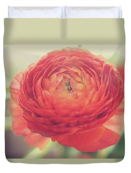 Duvet Cover featuring the photograph Hope by Laurie Search