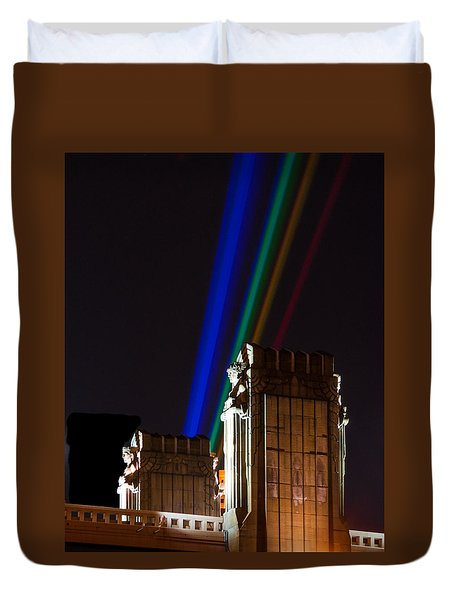 Hope Memorial Bridge, Aha Lights Duvet Cover