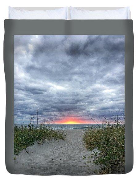 Hope On The Horizon Delray Beach Florida  Duvet Cover