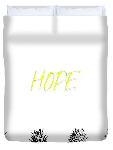 Hope Pineapples Duvet Cover