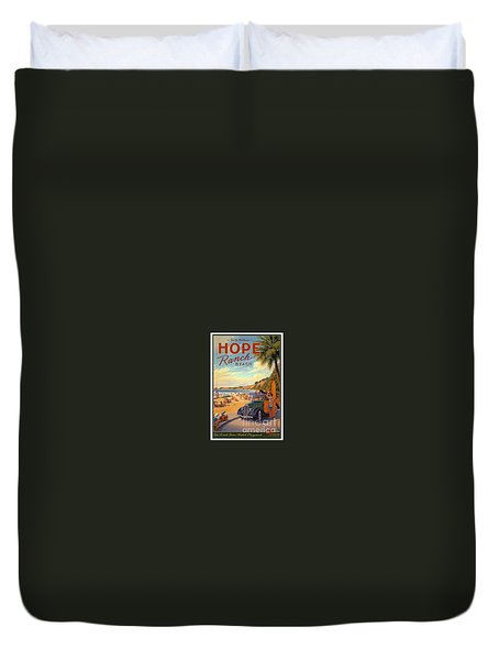 Hope Ranch Beach Duvet Cover by Nostalgic Prints