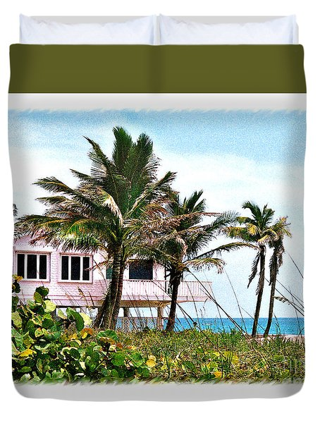 Duvet Cover featuring the photograph Hope Sound House by Linda Olsen
