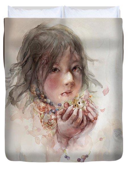 Duvet Cover featuring the digital art Hope by Te Hu